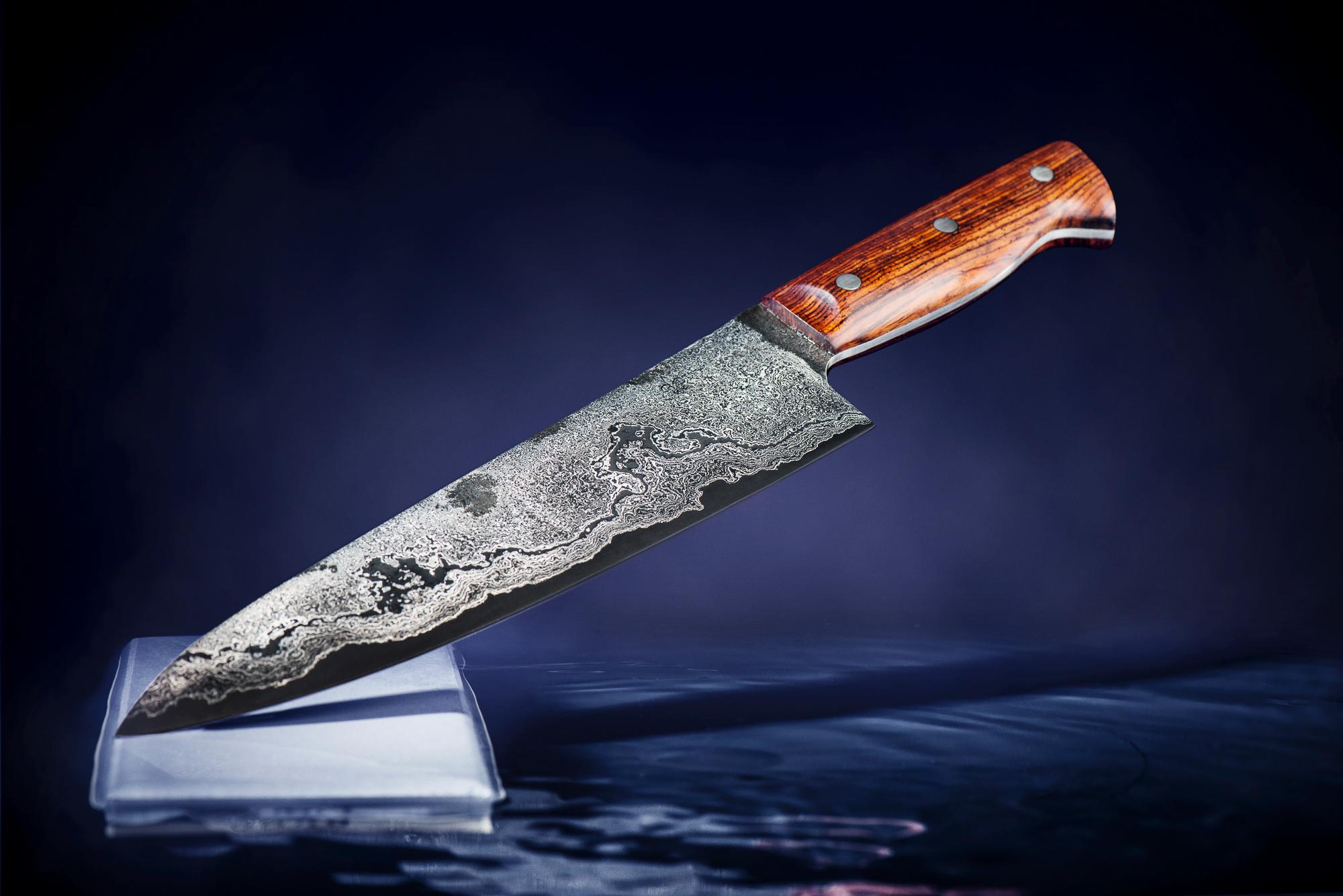 Shooting von Lilienstahl-Messer aus Commercial-Portfolio